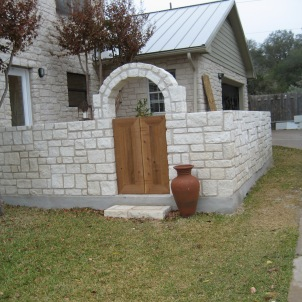 New fencing and complete exterior stonework